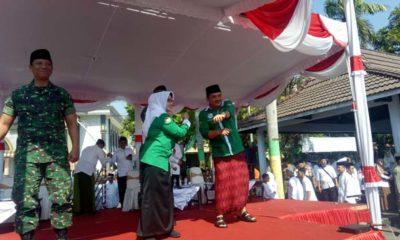 Bupati - Wabup Jombang Senam Santri bersama 22.771 Santri