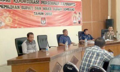 KPU Jombang Gelar Rakor Persiapan Kampanye