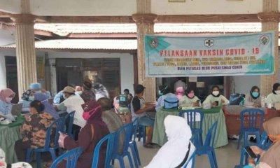 Tokoh Masyarakat di Empat Dusun Ngudirejo Jombang Divaksin